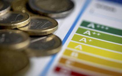 Energielabel met geld.beeld ANP, Koen van Weel