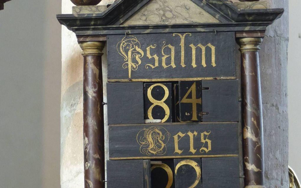 Psalmbord in de Grote Kerk in Edam.beeld Museum Catharijneconvent