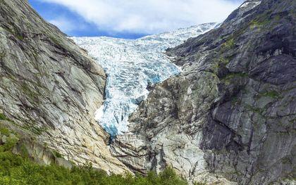 Briksdal-gletsjer in Noorwegen. beeld iStock