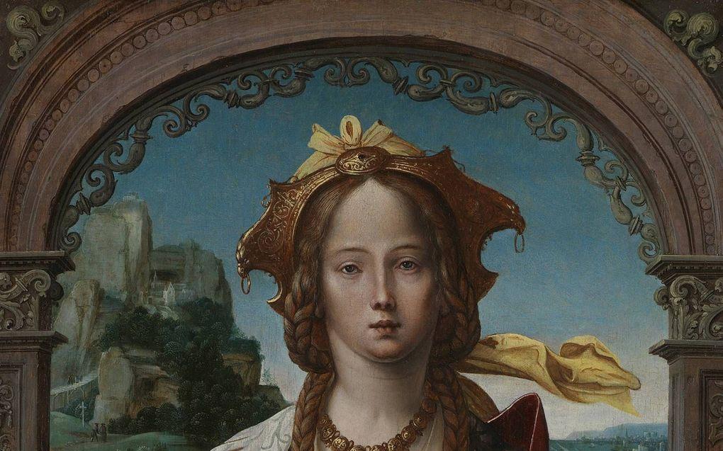 Portret van Maria Magdalena uit atelier Meester van 1518, gemaakt vóór 1524.beeld The National Gallery, Londen