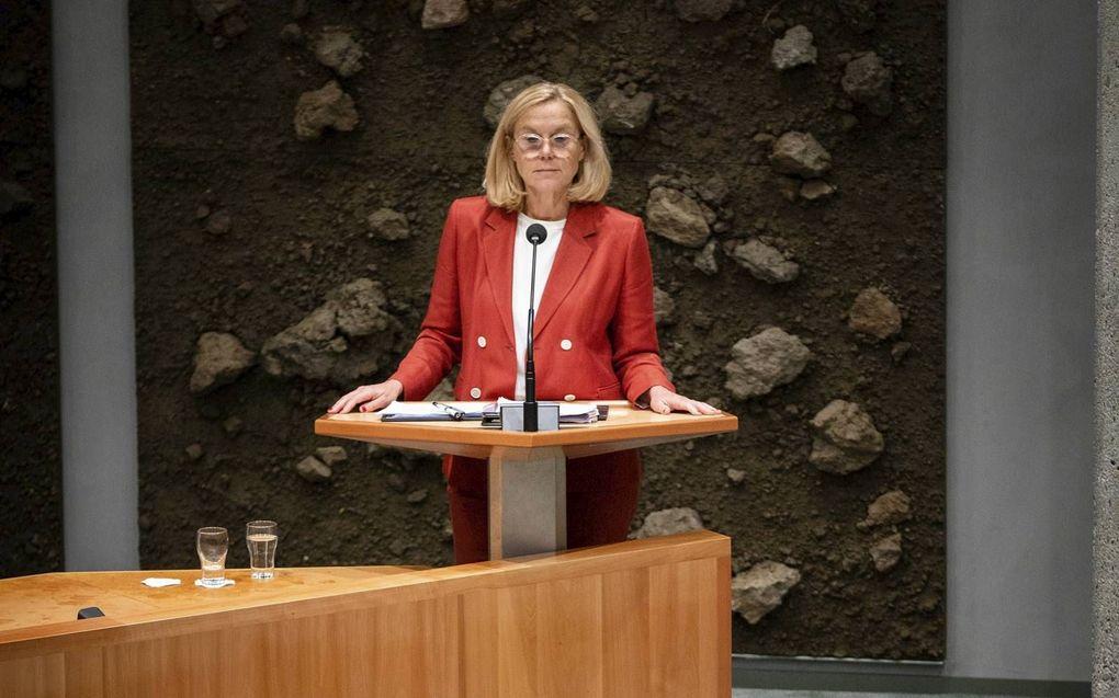 """CU-leider Segers vraagt D66-voorvrouw Kaag hoe haar """"mooie woorden over binnensluiten en samenwerken"""" zich verhouden tot de keuze om niet met de CU te onderhandelen.beeld ANP, Bart Maat"""