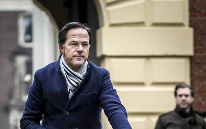 Premier Mark Rutte komt aan voor de ministerraad op het Binnenhof. beeld ANP REMKO DE WAAL