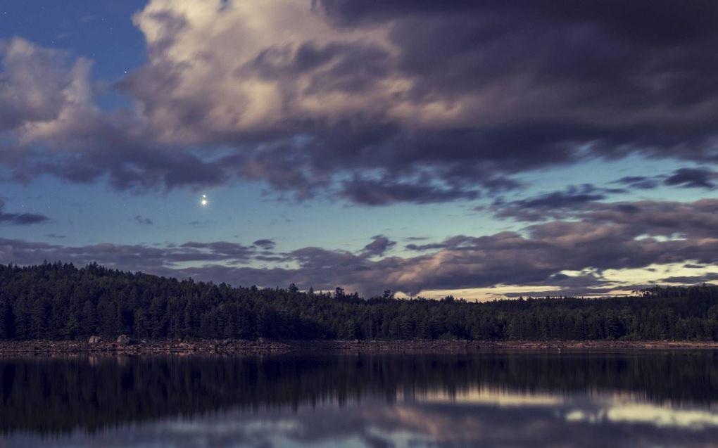 Een samenstand van Venus en Jupiter aan de westelijke hemel. Sommige astronomen menen dat de ster van Bethlehem een samenstand van planeten is geweest.beeld iStock