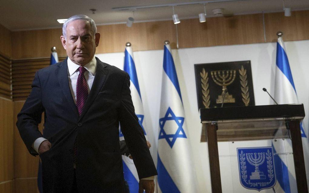 De Israëlische premier Benjamin Netanyahu zal zijn huid ook bij de volgende verkiezingen duur verkopen.beeld EPA, Yonatan Sindel