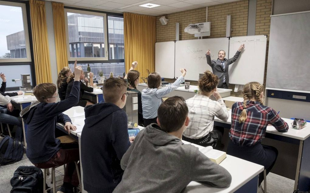 ChristenUnie en SGP vrezen dat aanpassing van de passage over de vrijheid van onderwijs in het CDA-verkiezingsprogramma op termijn de ruimte voor het orthodox onderwijs aantast. beeld Sjaak Verboom