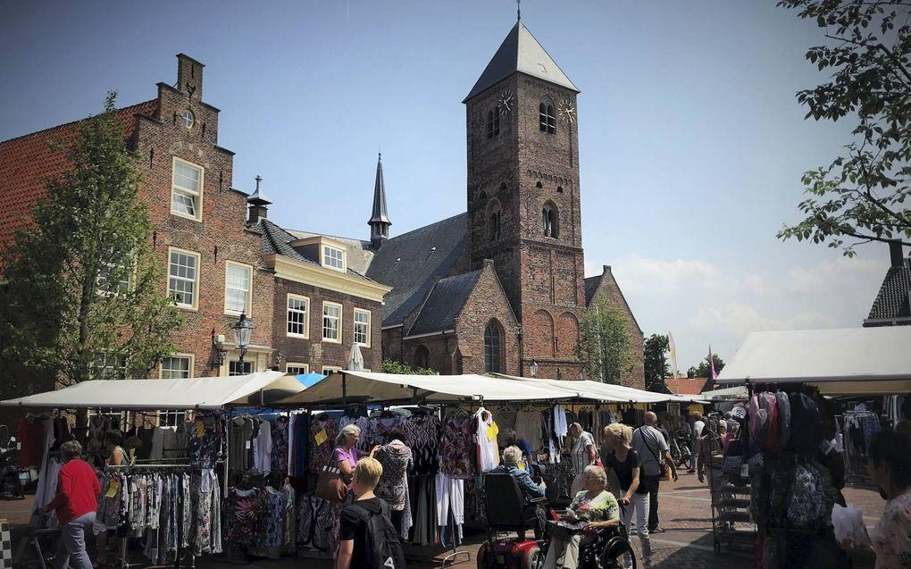 De Oude Kerk van de protestantse gemeente in Naaldwijk. beeld RD