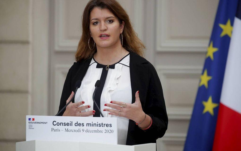 Marlène Schiappa, december 2020.beeld EPA, Charles Platiau
