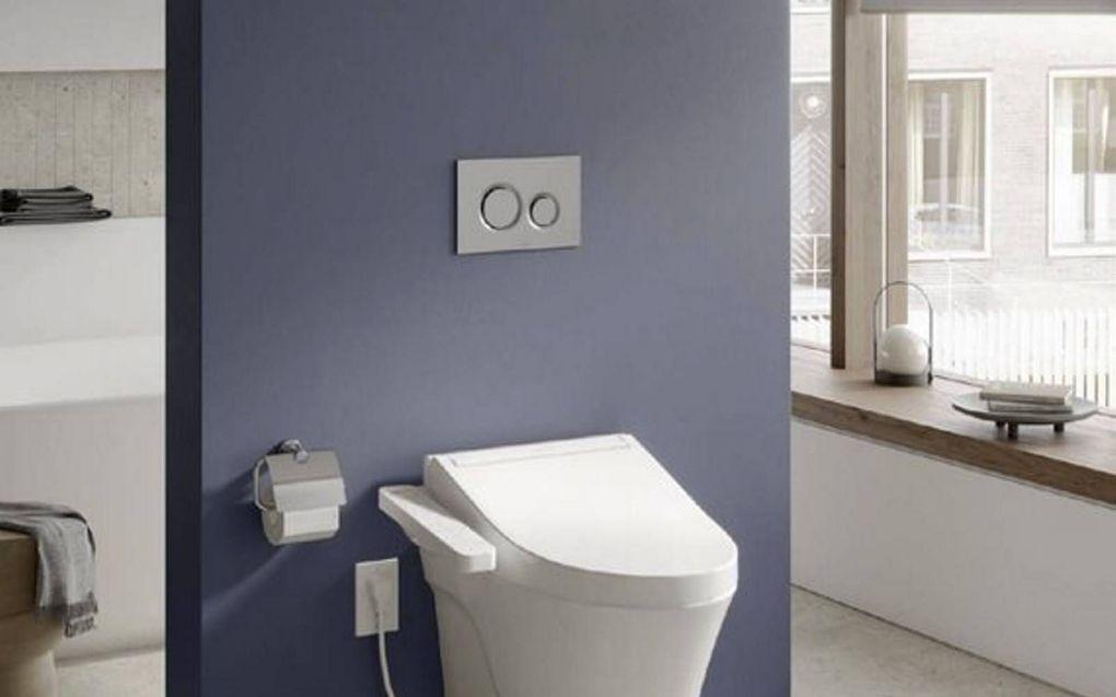 De Wellness toiletpot van Toto doet een gezondheidscheck tijdens de grote boodschap.beeld Toto