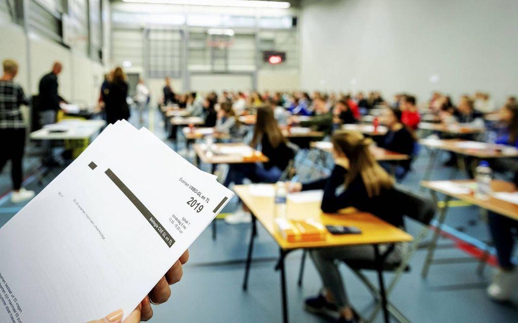 Sommige scholen verwachten dat 30 tot 40 procent van de leerlingen zakt, bleek eerder deze week.beeld ANP, Robin van Lonckhuijsen