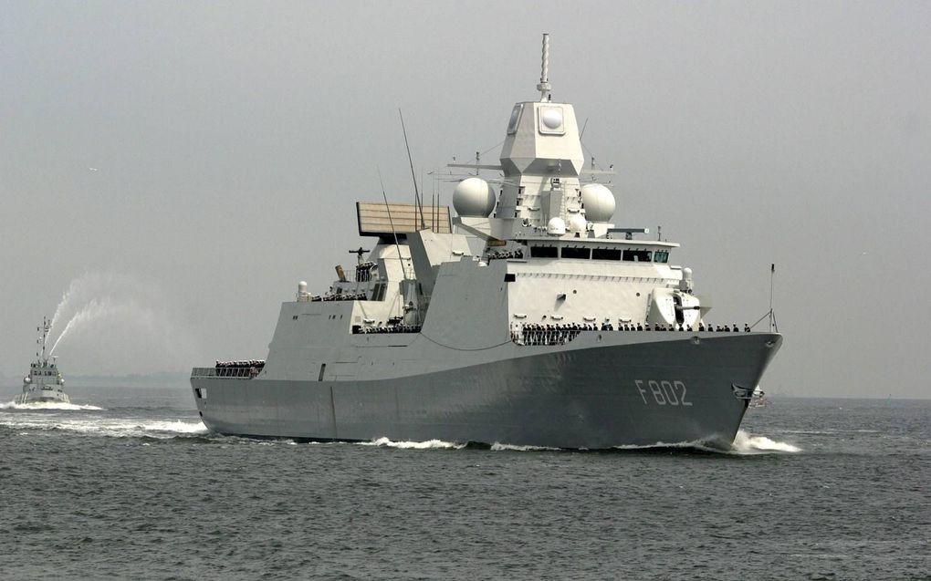 Zr.Ms. De Zeven Provinciën is samen met drie andere schepen uit de vaart genomen, nadat corona aan boord is geconstateerd. beeld ANP