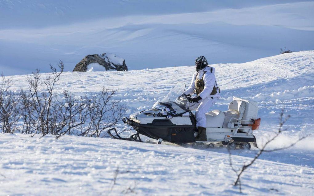In Noorwegen is zaterdagmiddag een Nederlandse militair dood aangetroffen. Nederlandse mariniers oefenen op dit moment in het arctische gebied. beeld Andre Dorst