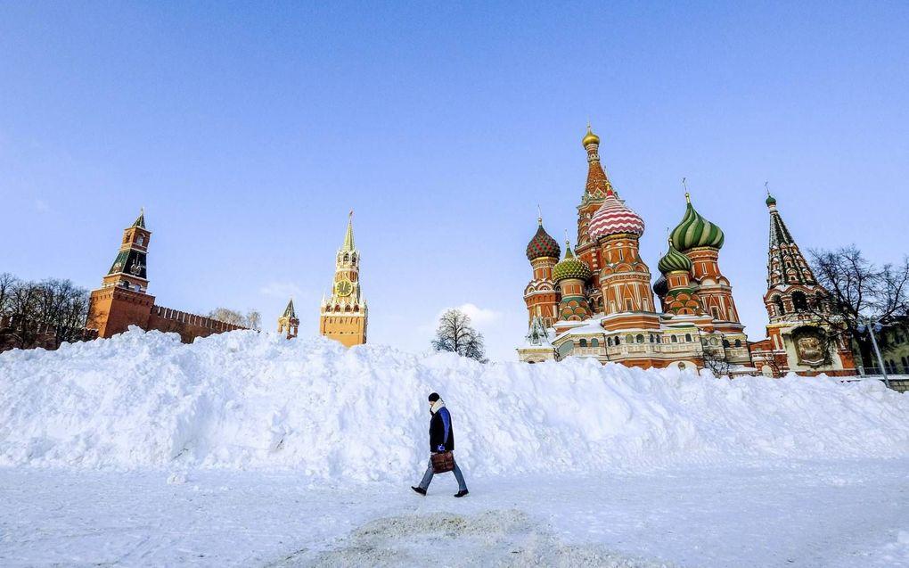 De nieuwe EU-sancties staan symbool voor de steeds meer bekoelde relatie tussen Moskou en Brussel. beeld AFP, Yuri Kadobnov