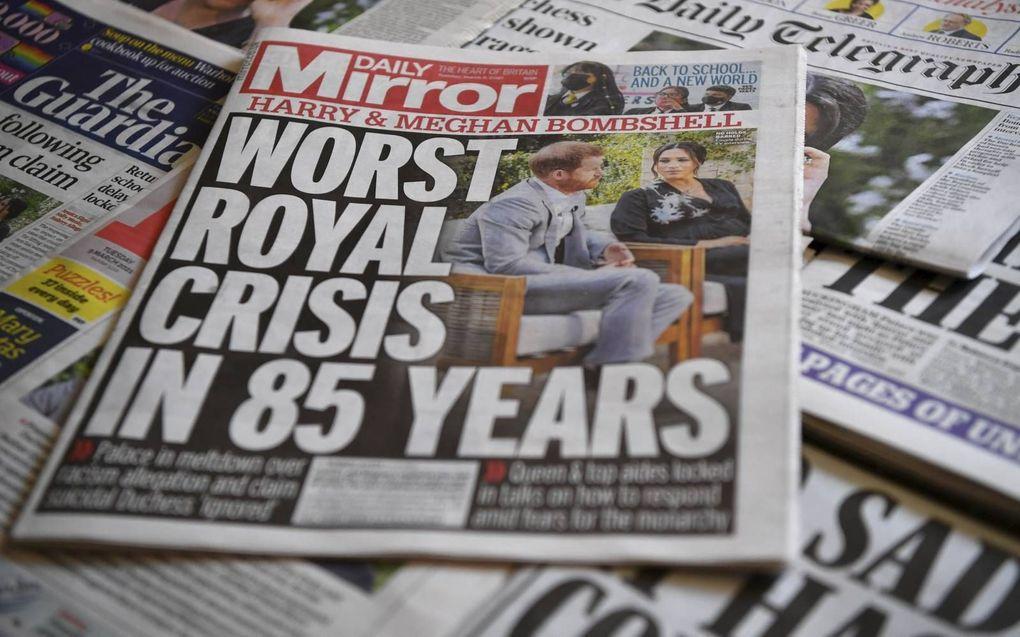 Britse media staan bol van het opzienbarende interview.beeld AFP, Ben Stansall