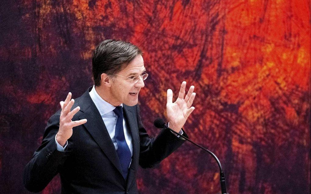 Mark Rutte in de Tweede Kamer vorige week donderdag tijdens het debat over de mislukte formatieverkenning.beeld ANP, Bart Maat