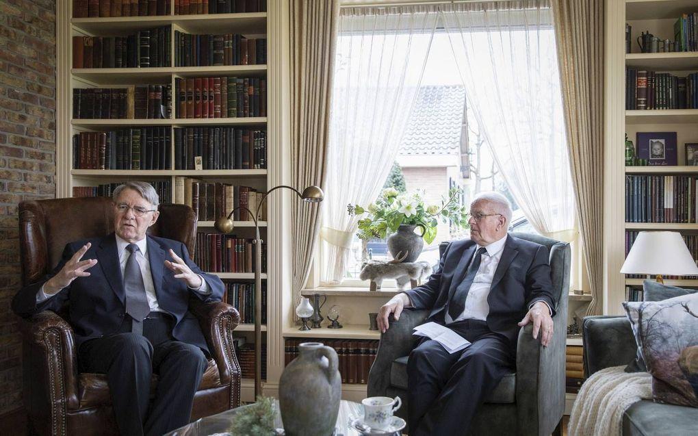 Ir. B. J. van der Vlies (l.) en ds. D. J. Budding. beeld RD, Henk Visscher
