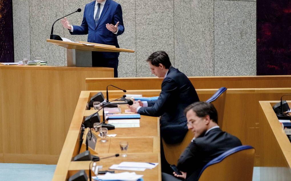 """""""CDA-Kamerlid Pieter Omtzigt kreeg de 342.472 voorkeurstemmen vooral omdat hij het kabinet onder leiding van VVD-leider Mark Rutte stevig controleerde."""" beeld ANP, Bart Maat"""