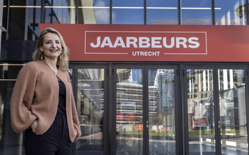 Aletta Kok, marketing en digital directeur bij Jaarbeurs in Utrecht, verwacht dat dat digitaal beursbezoek een blijvertje is.beeld Erik Kottier