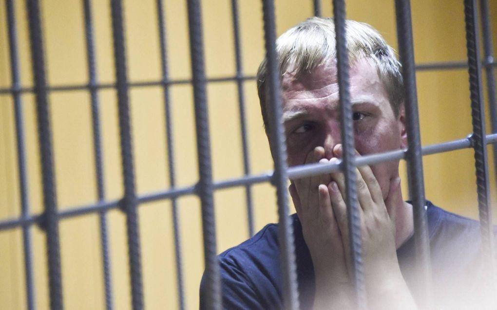 De Russische onderzoeksjournalist Ivan Golunov werd in 2019 aangeklaagd voor drugsbezit, maar uiteindelijk niet vervolgd. Nieuwssite Meduza, waar hij voor werkte, sprak van een wraakactie.beeld AFP, Vasily Maximov