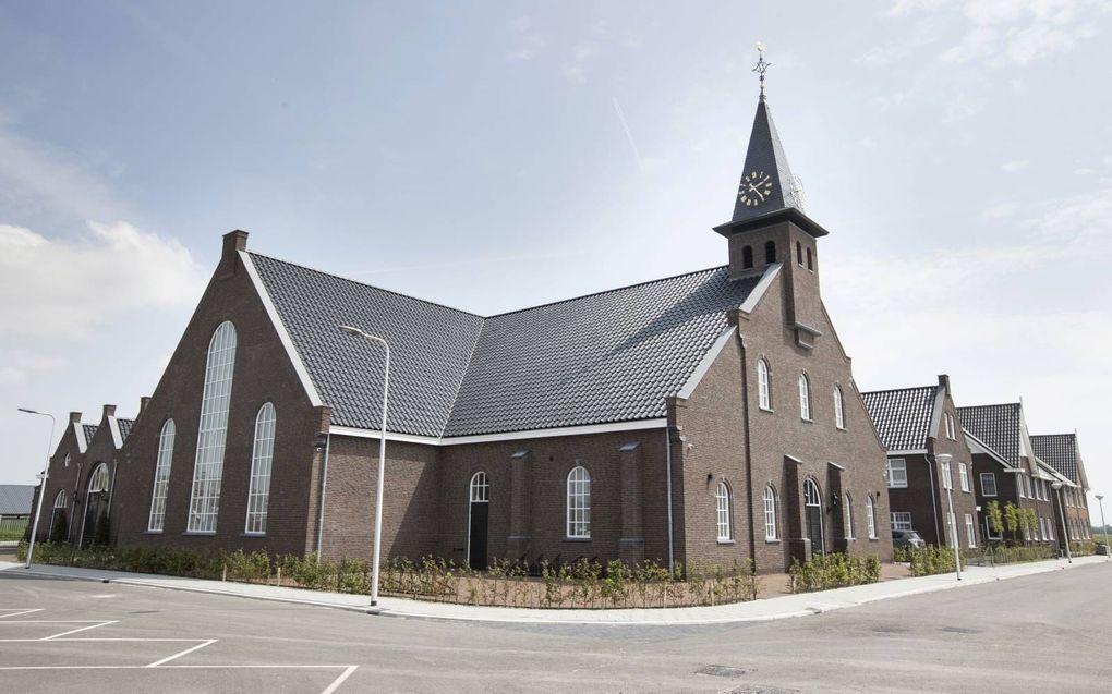 De nieuw gebouwde hersteld hervormde kerk in Driebruggen.beeld RD, Anton Dommerholt