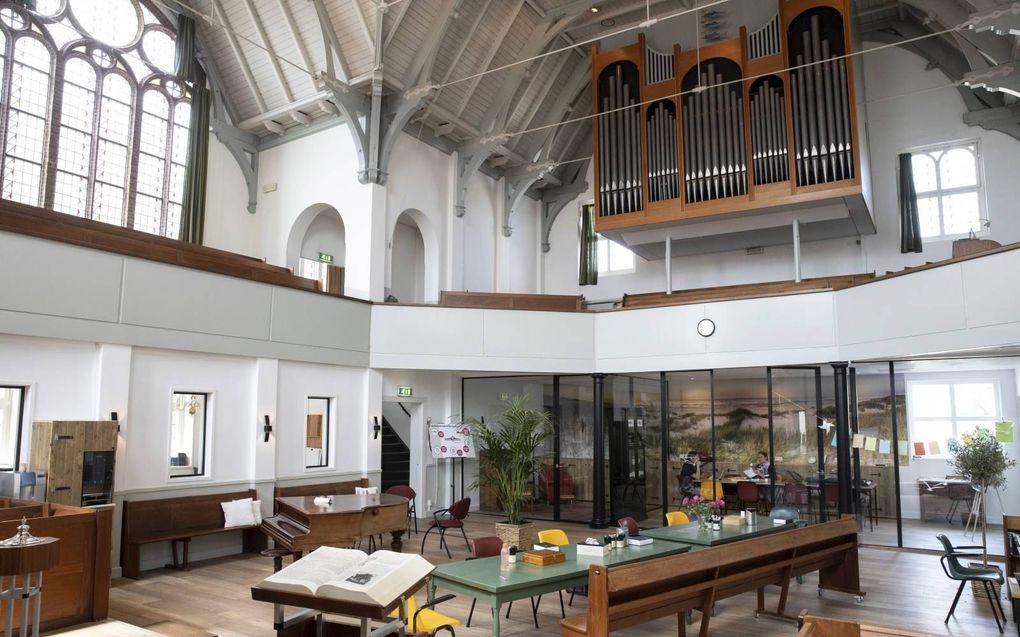 Het nieuwe inloophuis in de Eben-Haëzerkerk in Scheveningen. beeld RD, Anton Dommerholt