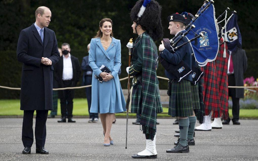 Prins William en zijn vrouw Catherine bezochten in mei Schotland. beeld AFP, Jane Barlow