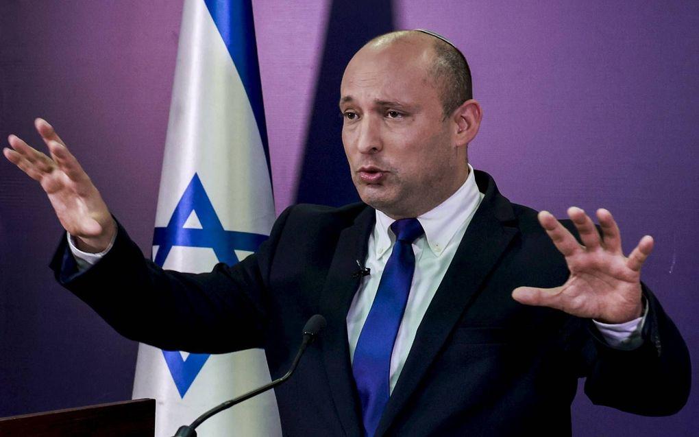 De nieuwe Israëlische premier Naftali Bennett treedt zondag voor een beoogde periode van twee jaar aan.beeld EPA, Menahem Kahana