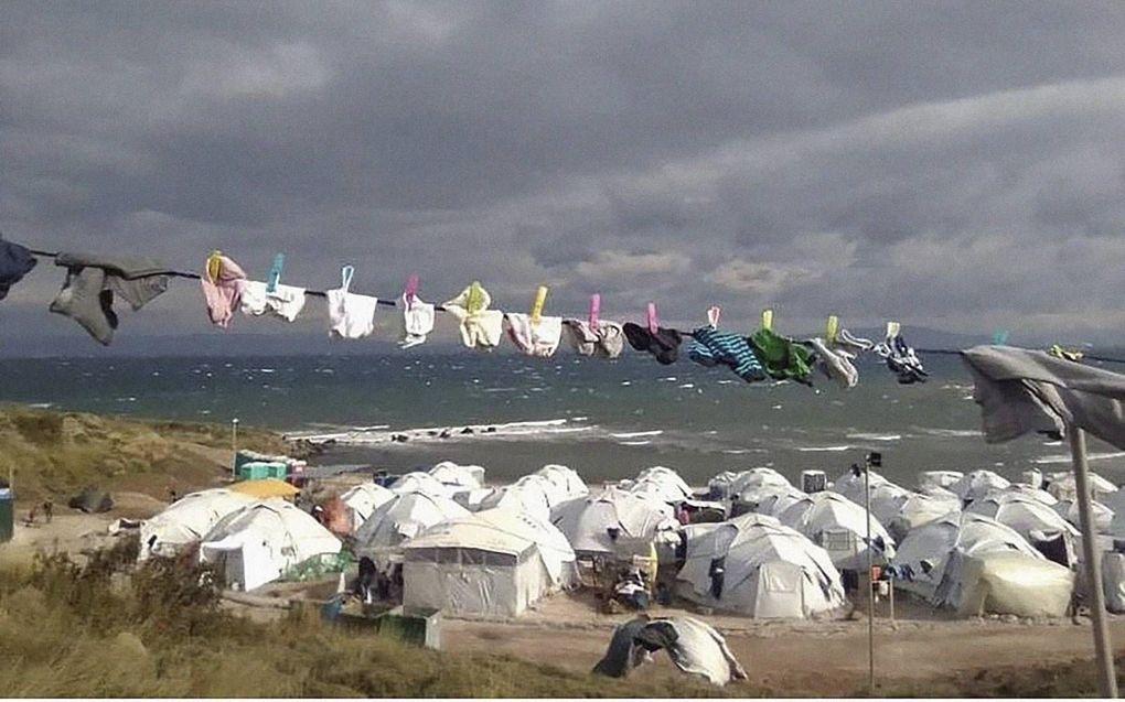 Vluchtelingenkamp op het Griekse eiland Lesbos. beeld Now You See Me Moria