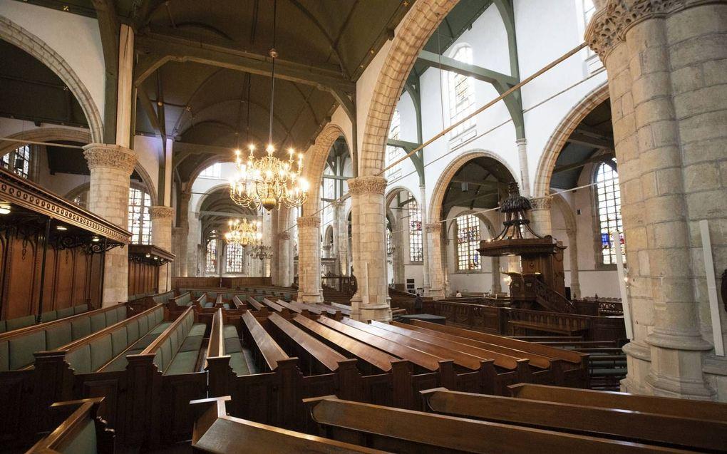 Annemarieke heeft acht verschillende kerkdiensten bekeken en beluisterd, onder meer die van de Sint-Jansgemeente in Gouda (PKN).beeld RD