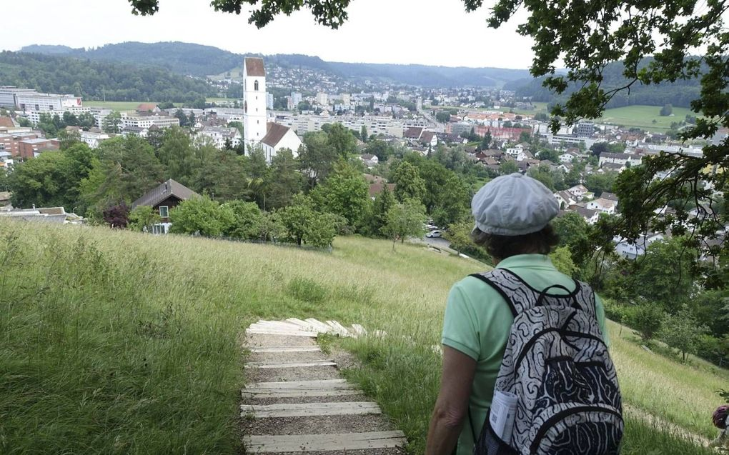 Een nieuw deel van het traject van het Zwitserse Hugenotenpad is deze maand in gebruik genomen.beeld RD
