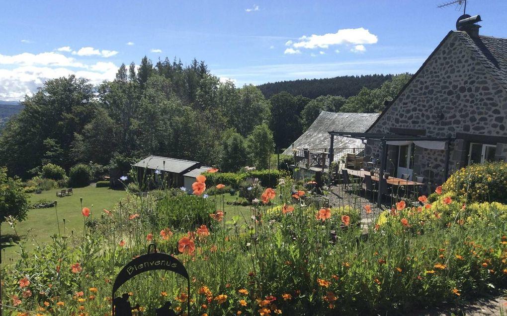 De chambre d'hôtes van Annemieke van Joost in de Cantal.beeld Imco Lanting