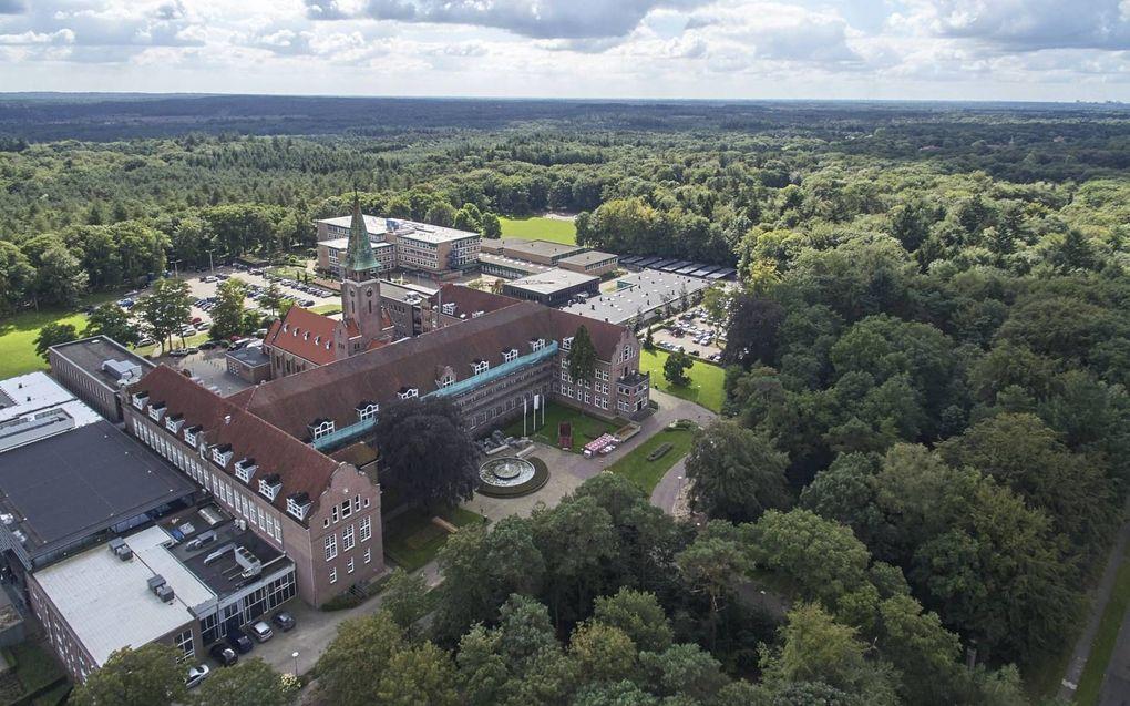 De locatie Amersfoort van het Hoornbeeck College (vooraan) en het Van Lodenstein College.beeld Hoornbeeck College