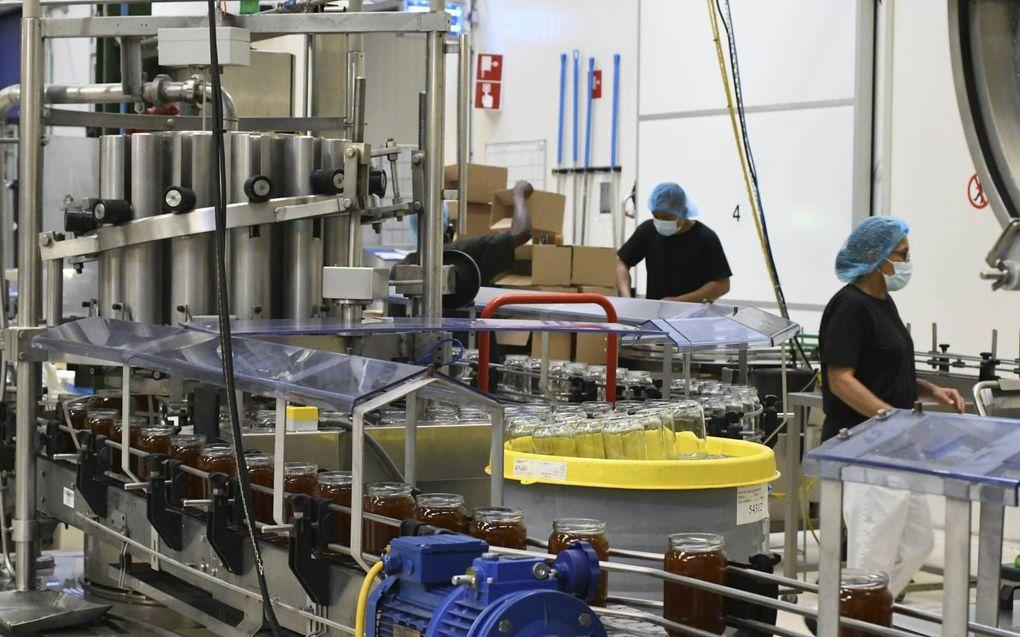 Imkerij De Traay in Lelystad, de grootste leverancier van honing in Nederland. beeld Theo Haerkens