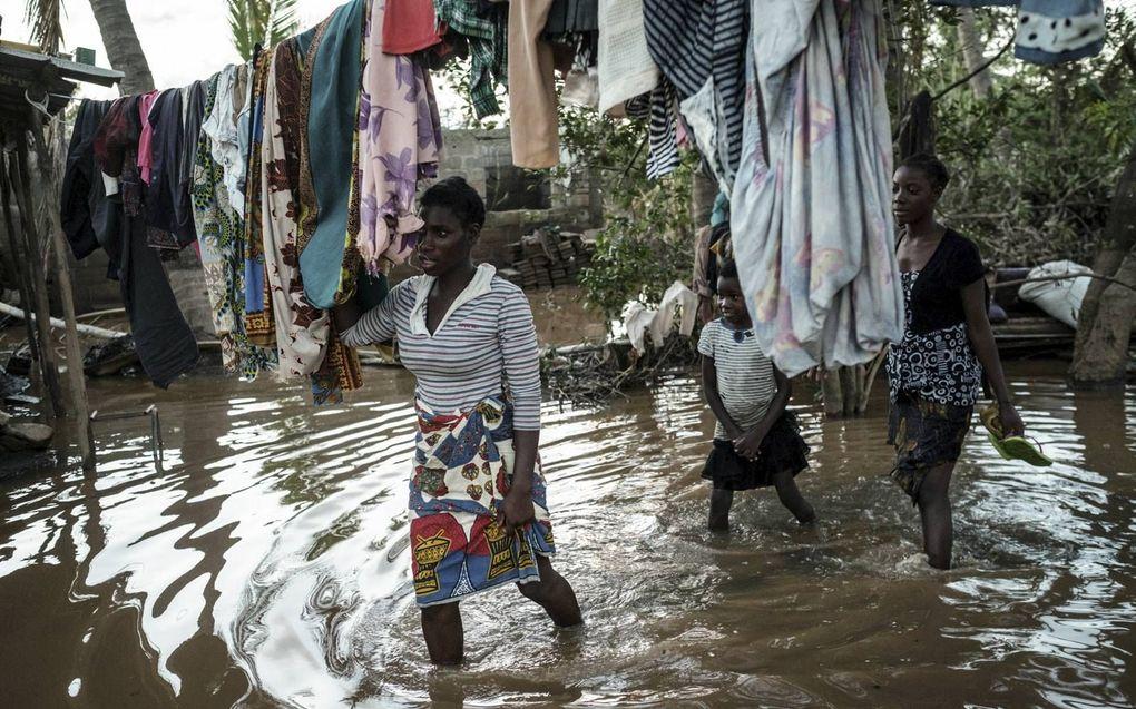 De cycloon Idai leidde in Mozambique tot verwoestingen en wateroverlast. beeld AFP, Yasuyoshi Chiba