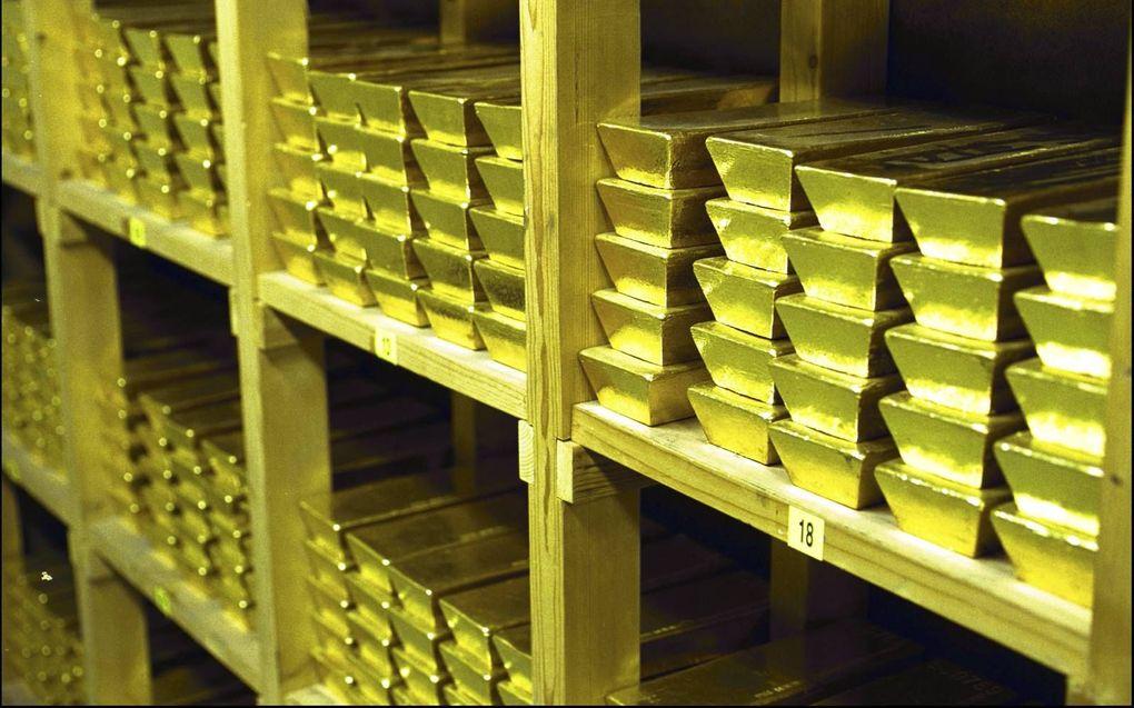 Goud heeft sinds 1971 geen functie meer in het geldstelsel. De Nederlandsche Bank bezit ruim 600 ton aan goudstaven. De waarde daarvan schatte de bank in 2019 op 26,7 miljard euro.beeld ANP, Robert Vos