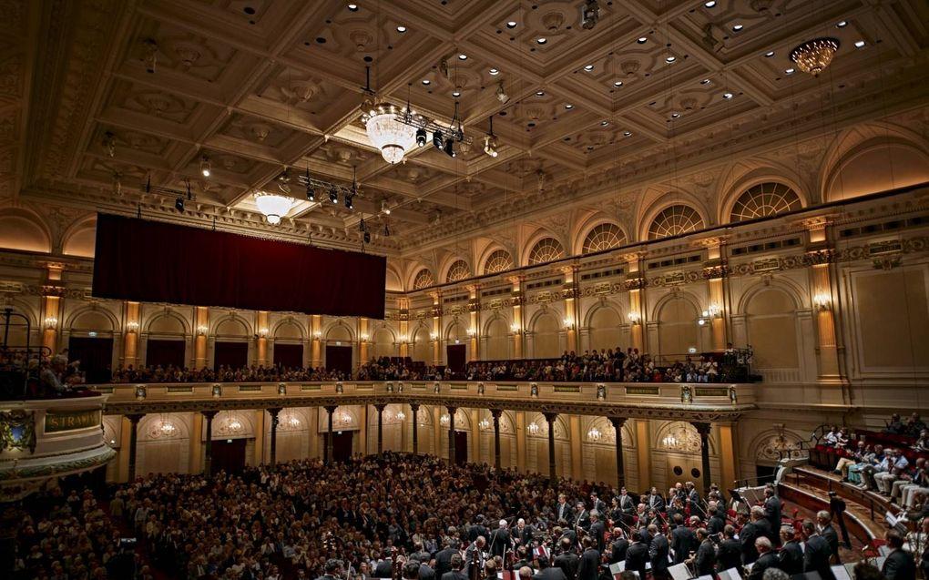 Concert met de Wiener Philharmoniker eerder deze maand in het Concertgebouw, met 1300 bezoekers.beeld Concertgebouw, Milagro Elstak