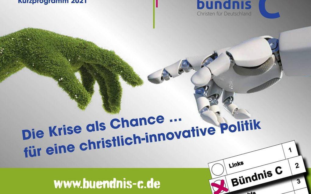 Verkiezingsbrochure van Bündnis C die de partij dit jaar verspreidt.
