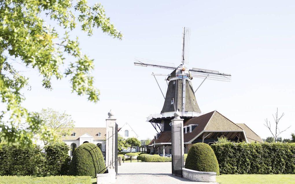Manager Wim Stam van restaurant en zalencentrum Molen De Zwaluw denkt door de coronapas de helft van zijn klandizie te verliezen.beeld Molen De Zwaluw