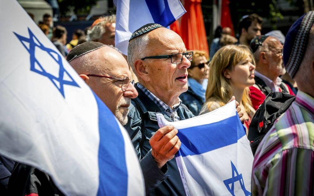 Demonstratie tegen antisemitisme in 2019.beeld ANP, Remko de Waal