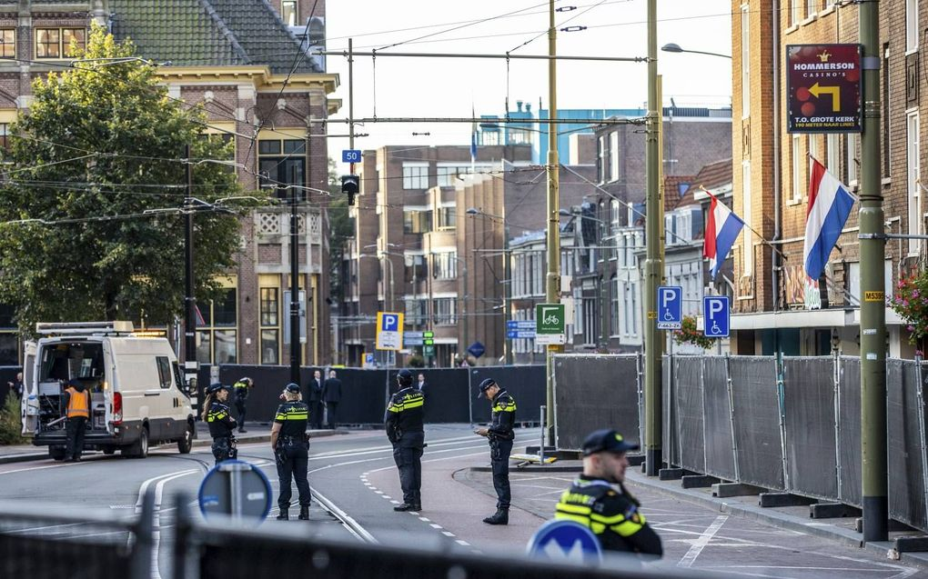 Feestelijk én beveiligd Den Haag. beeld ANP, Sem van der Wal