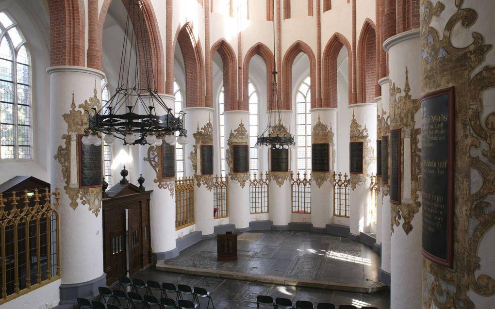 Tekstschilderingen in het koor van de Der-Aa kerk in Groningen. beeld archief Regnerus Steensma.