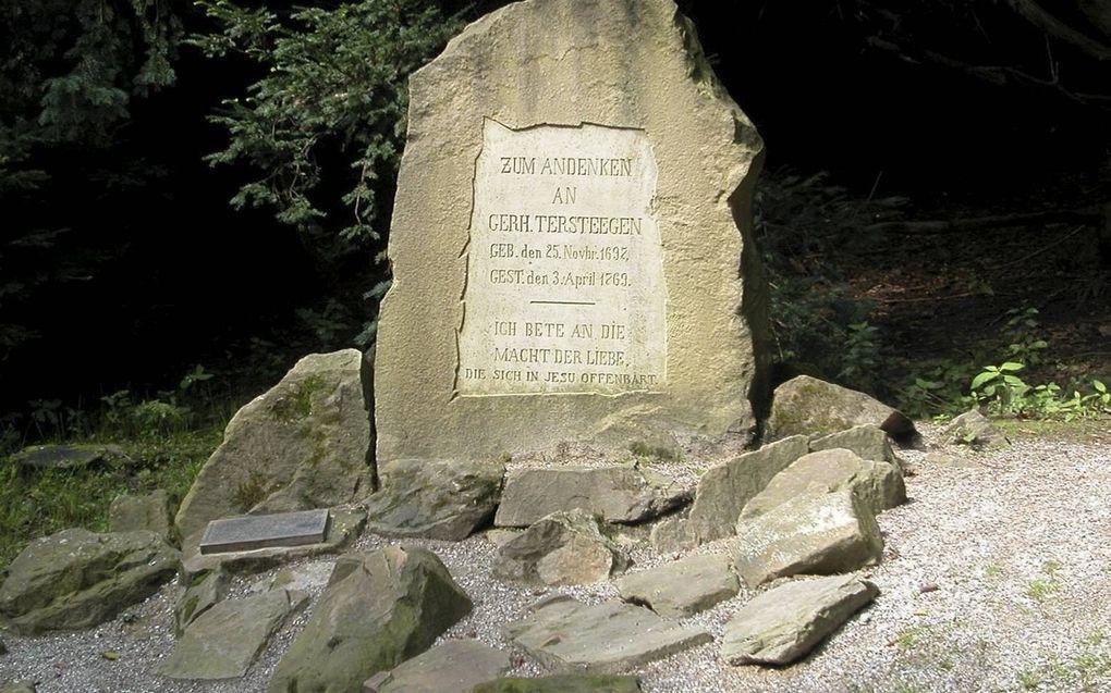 Gedenksteen in Mülheim.beeld Wikimedia