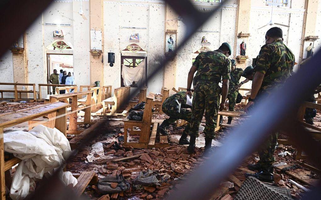 De recente Sri Lankaanse aanslagen illustreren een wereldwijd probleem van christenvervolging.beeld EPA, Jewel Samad