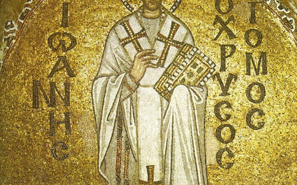 In zijn commentaar op de Hebreeënbrief vertolkt Chrysostomus heel duidelijk zijn gedachten over het plaatsvervangende werk van Christus. beeld Wikimedia Commons