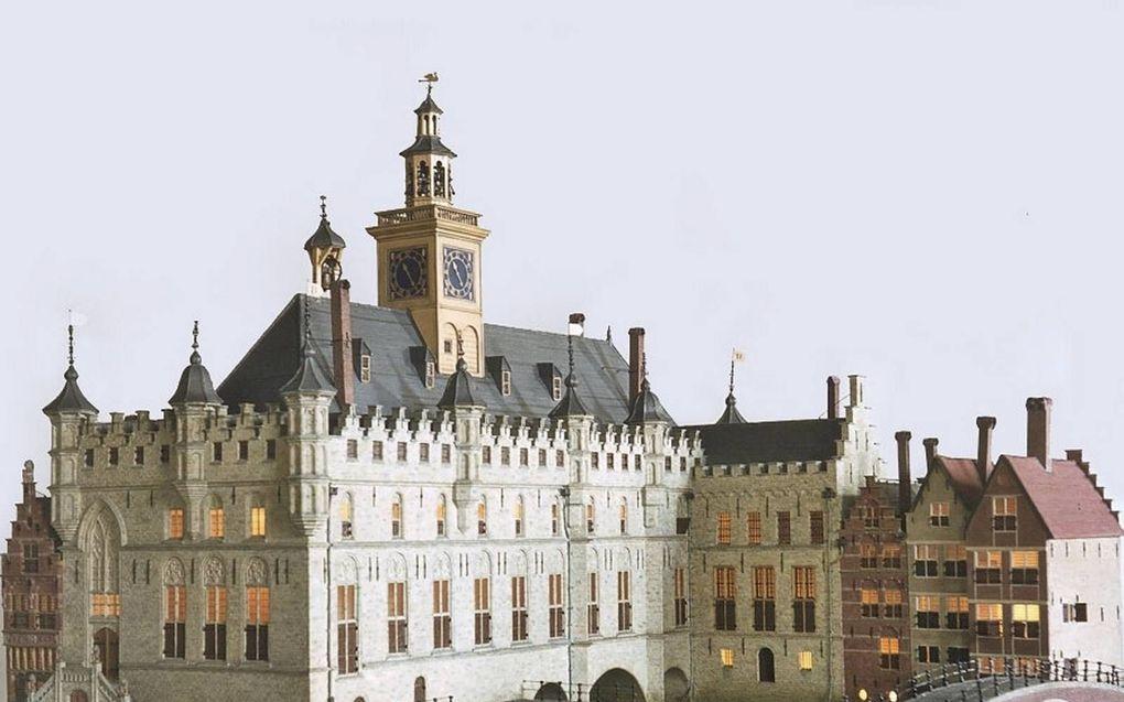 Maquette van het oude stadhuis van Dordrecht.beeld Herman A. van Duinen