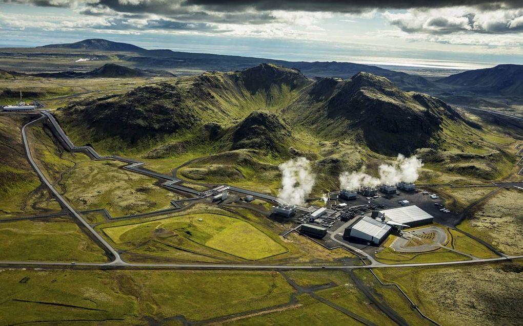 Het terrein van Hellisheidi bij Reykjavik. beeld ON Power, Árni Sæberg