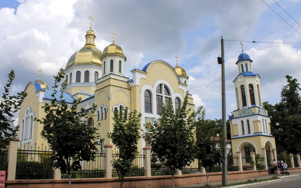 De Petrus en Pauluskerk in de West-Oekraïense plaats Zjovkva. beeld Floris Akkerman