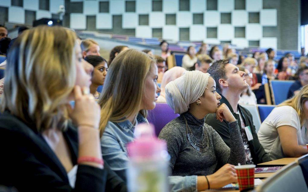 Op hogescholen en universiteiten zijn vrouwelijke studenten in de meerderheid.beeld ANP, Jerry Lampen