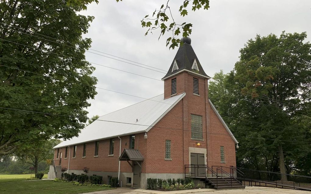 Het kerkgebouw van de NRC-afdeling in Courtland. beeld NRC Norwich