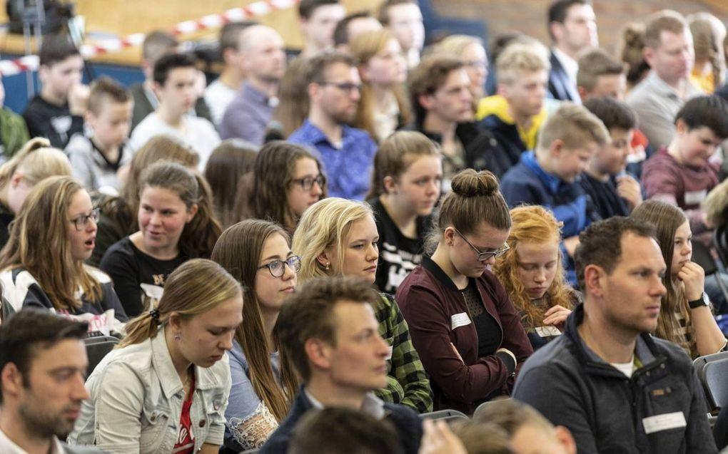 De Jongerendag 16- / conferentie van de Hersteld Hervormde Jongeren Organisatie (HHJO) in Amersfoort. beeld André Dorst