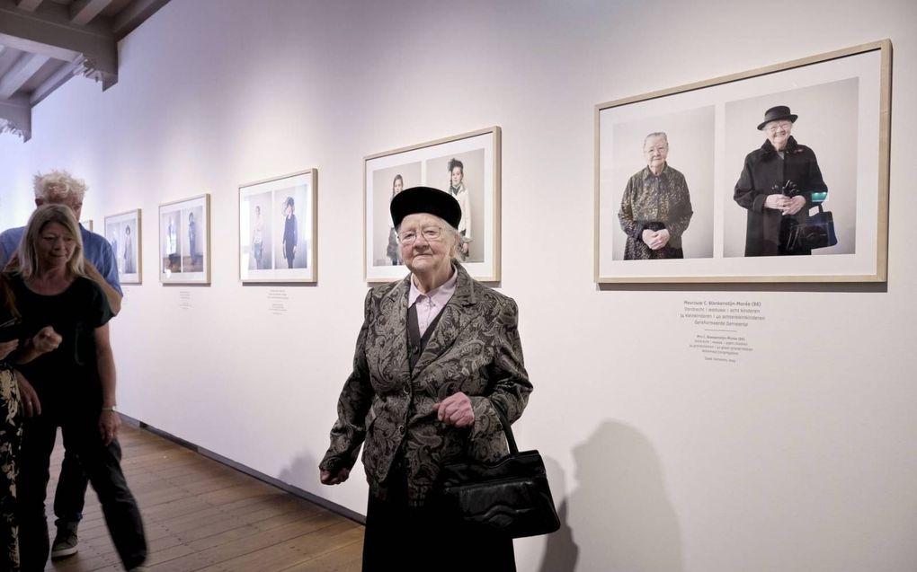 De portretten van mevrouw C. E. Blankenstijn maakten ook deel uit van de expositie zelf. beeld Sjaak Verboom